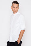 Double Short-Sleeve Button Up