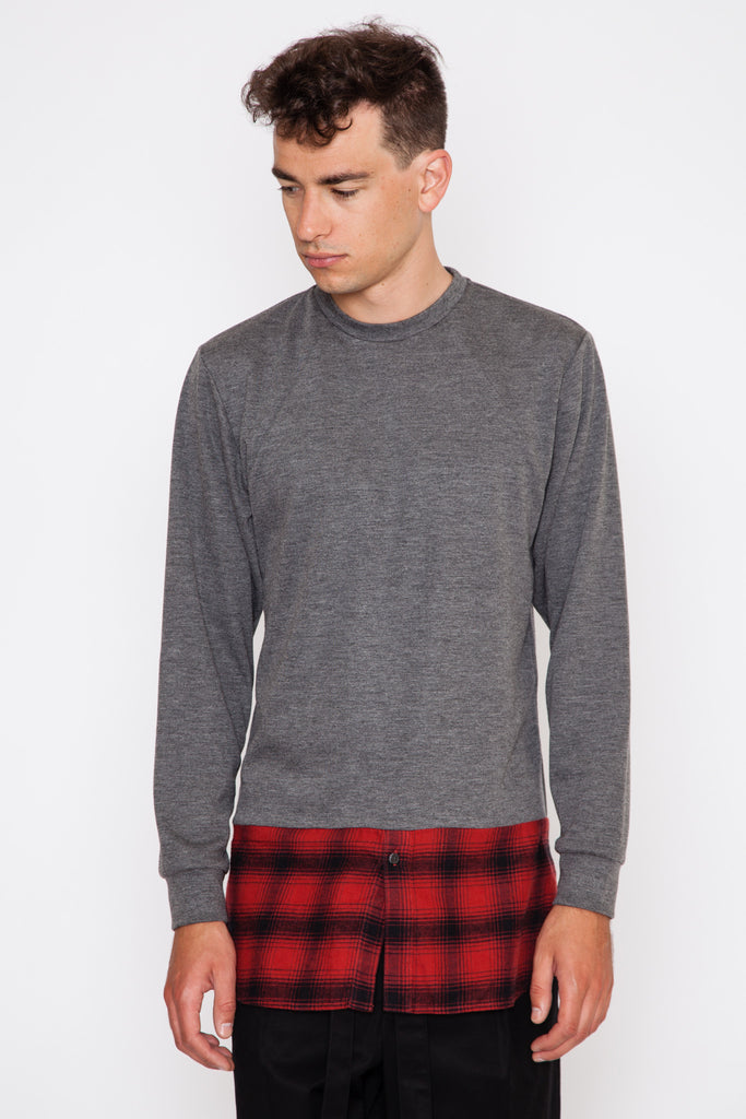 Long Shirting Combo Crewneck