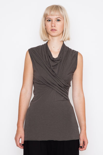 Darkdust Sleeveless Wrap Top