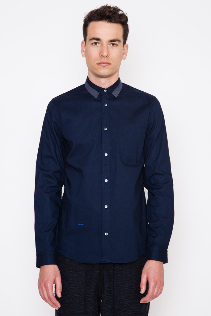 Navy Robert Oxford Shirt