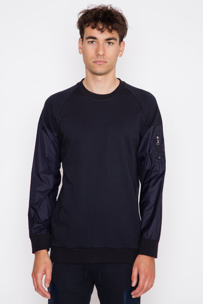 Bomber Sleeved Sweatshirt