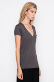 Slate Grey Home V-Neck Tee