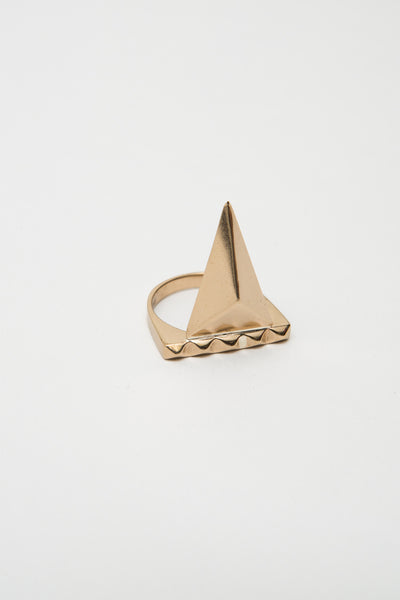 Bronze Pyramid Spike Ring