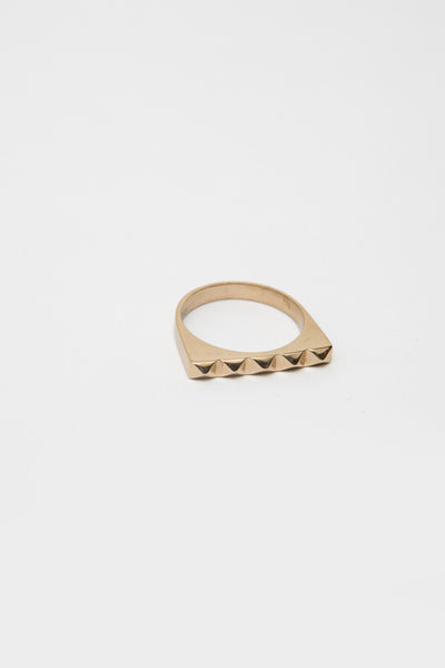 Bronze Studder Stack Ring