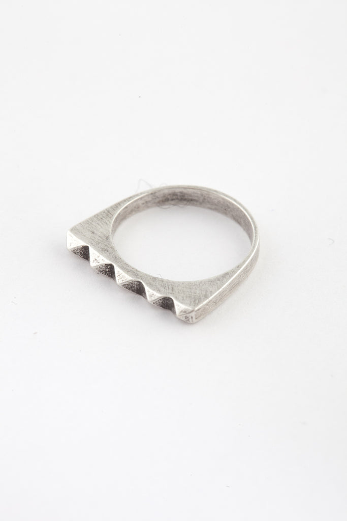 Oxidized Silver Studder Stack Ring