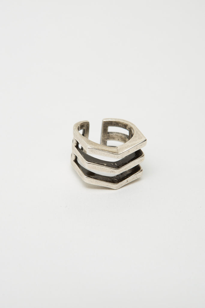 Silver Chevron Mini Ring