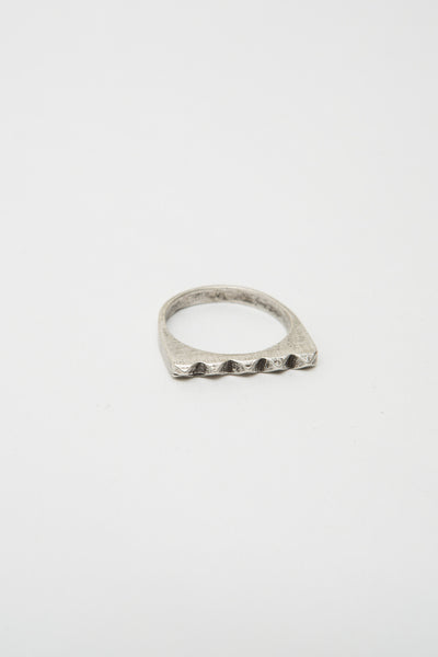Silver Studder Stack Ring