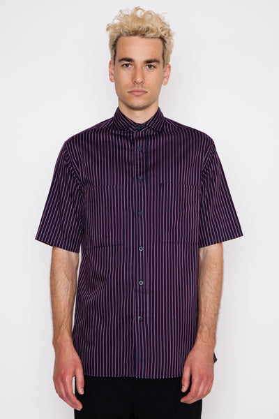 Twill Stripe S/S Utility Shirt