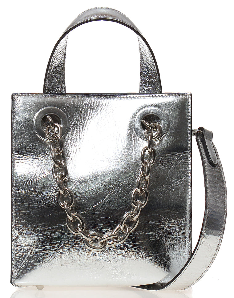 PEOPLE OF THE WORLD Mirror Chain Bag and Strap