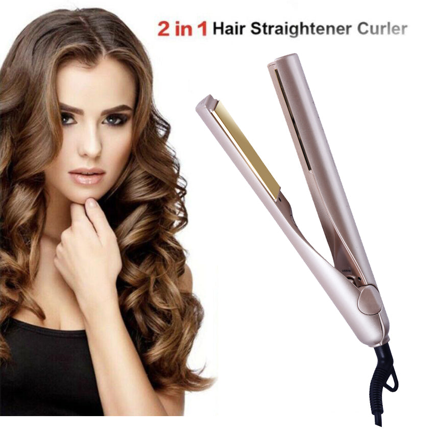 2 in 1  Professional Straightening and Curling  Iron