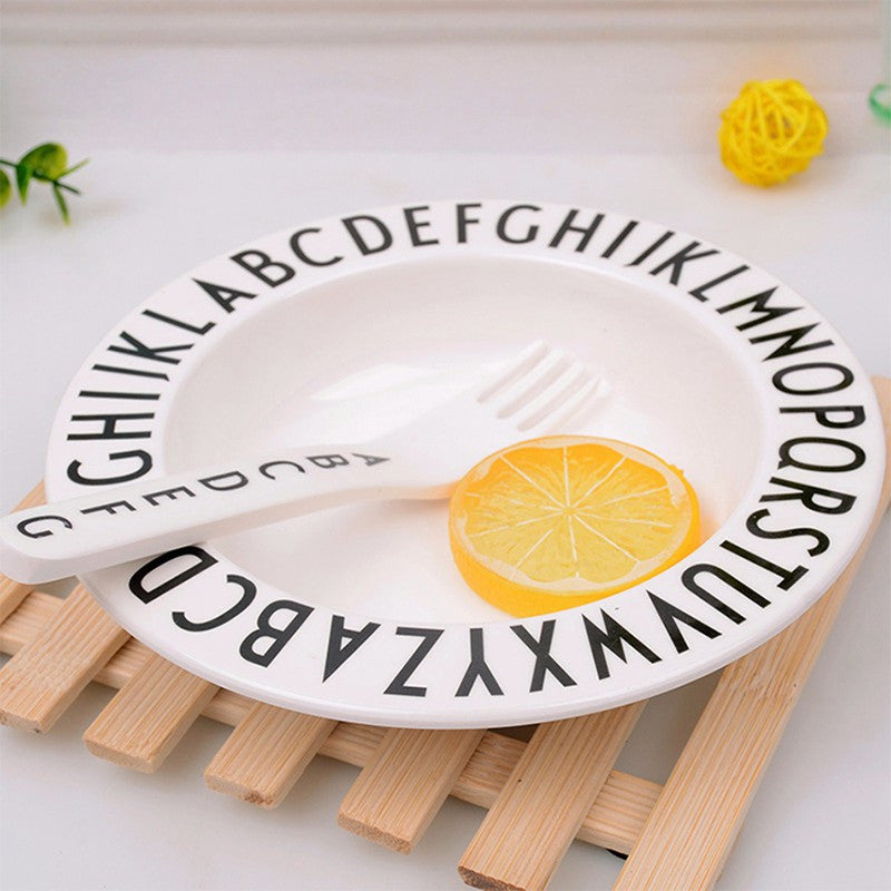 Alphabet Tableware_ Deep Plate - Angie&Ash
