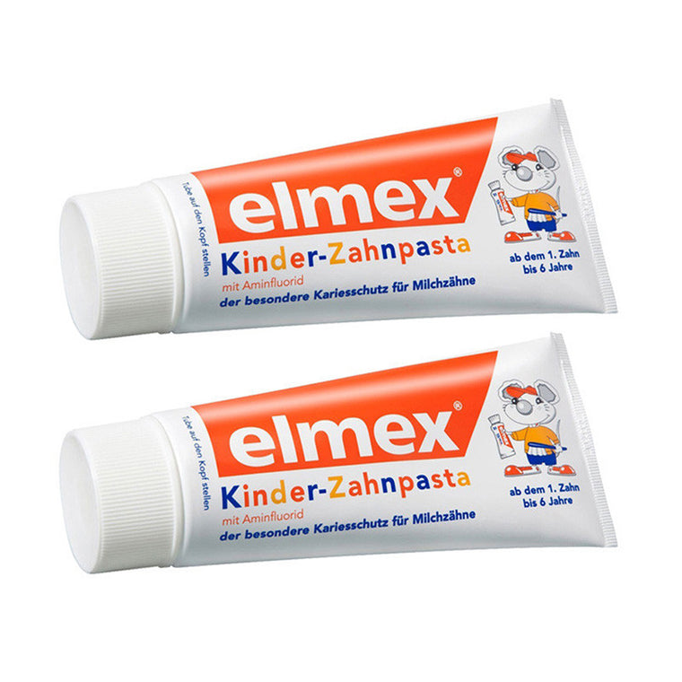ELMEX Toothpaste Children Kids 0-6 Years Old - 2x50ml