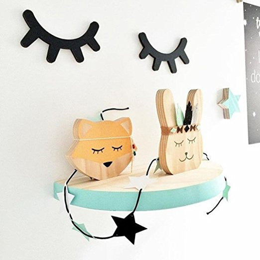 Sleepy Eye_ Cute Eyelashes 3D Wooden Wall Sticker - Angie&Ash