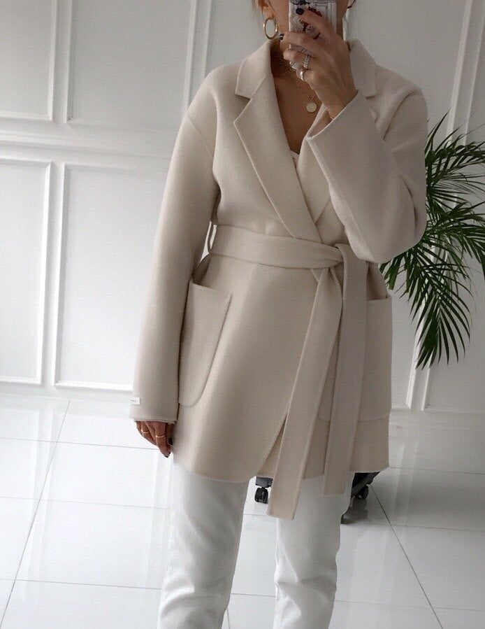Handmade Wool Half Coat (3 Colors)