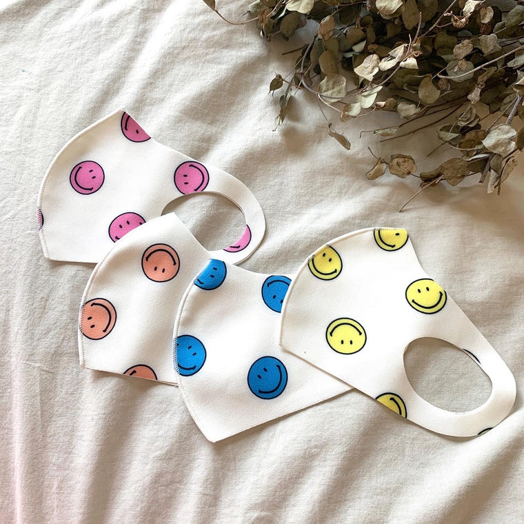 Happy Face Summer Kids Face Mask
