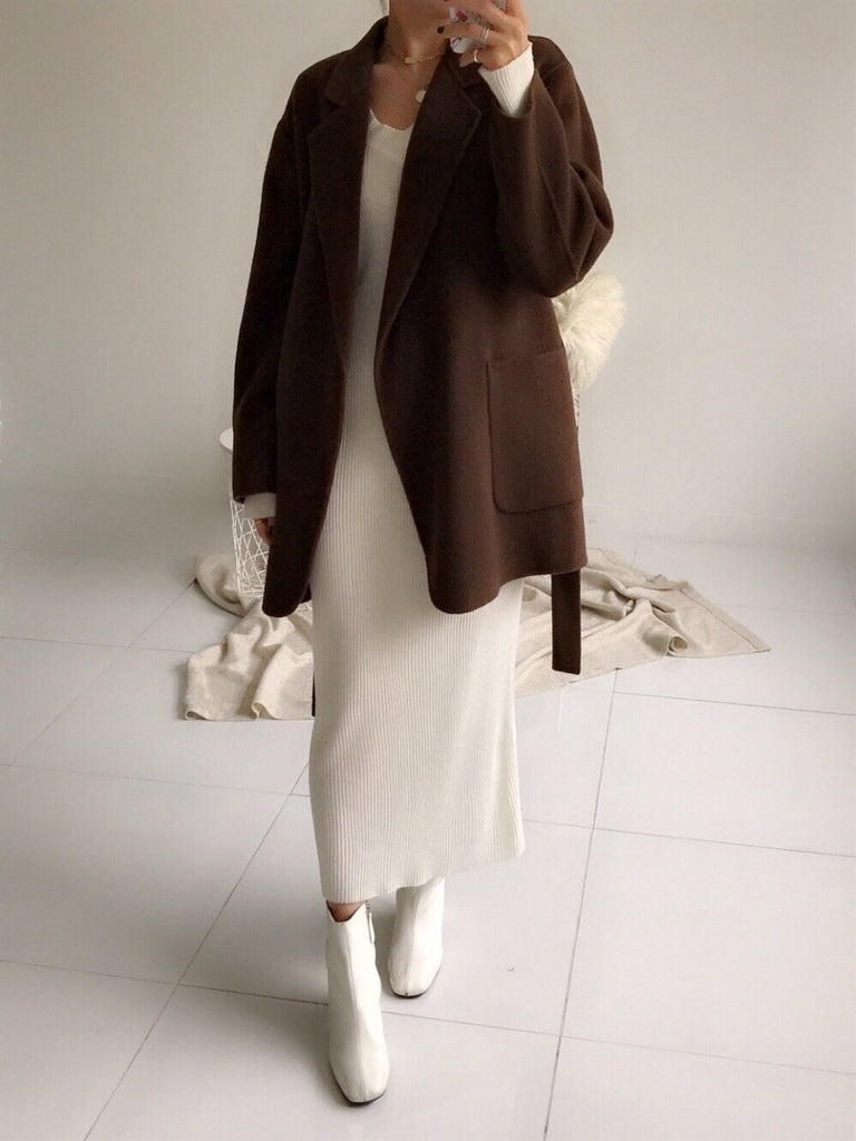 Handmade Wool Half Coat (3 Colors) - Angie&Ash