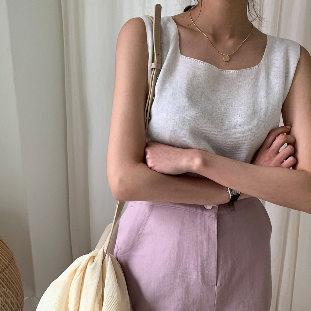 Sleeveless Knit Top - Angie&Ash
