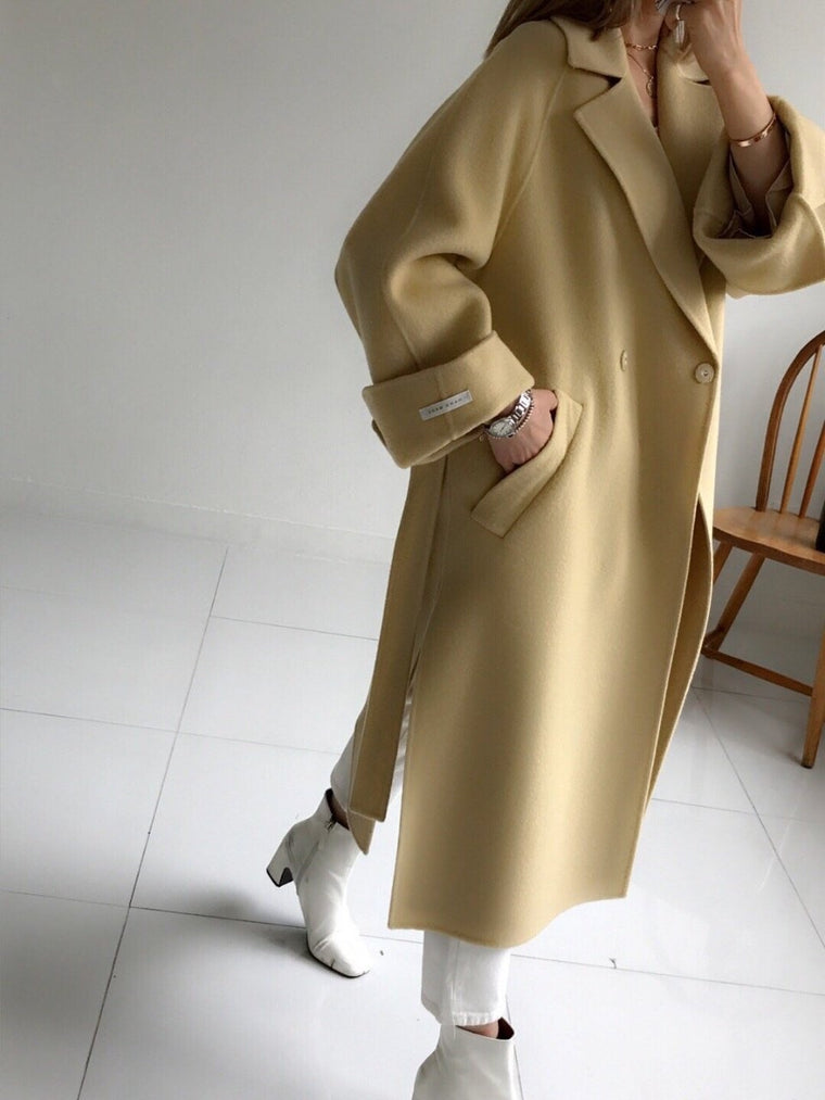 Oversized Wool Handmade Long Coat (3 Colors)