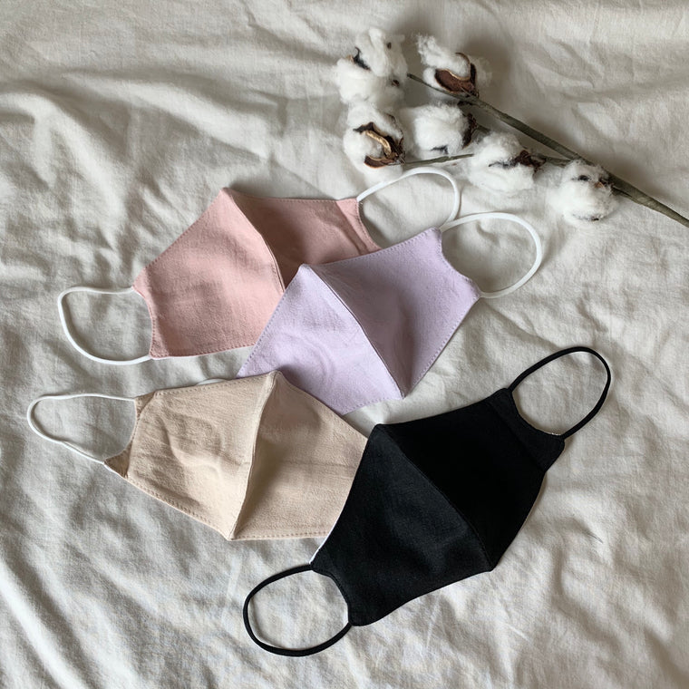 Pastel Filter Pocket Reusable Face Mask