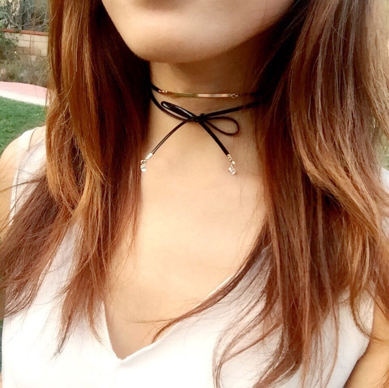 Metal Bar Choker