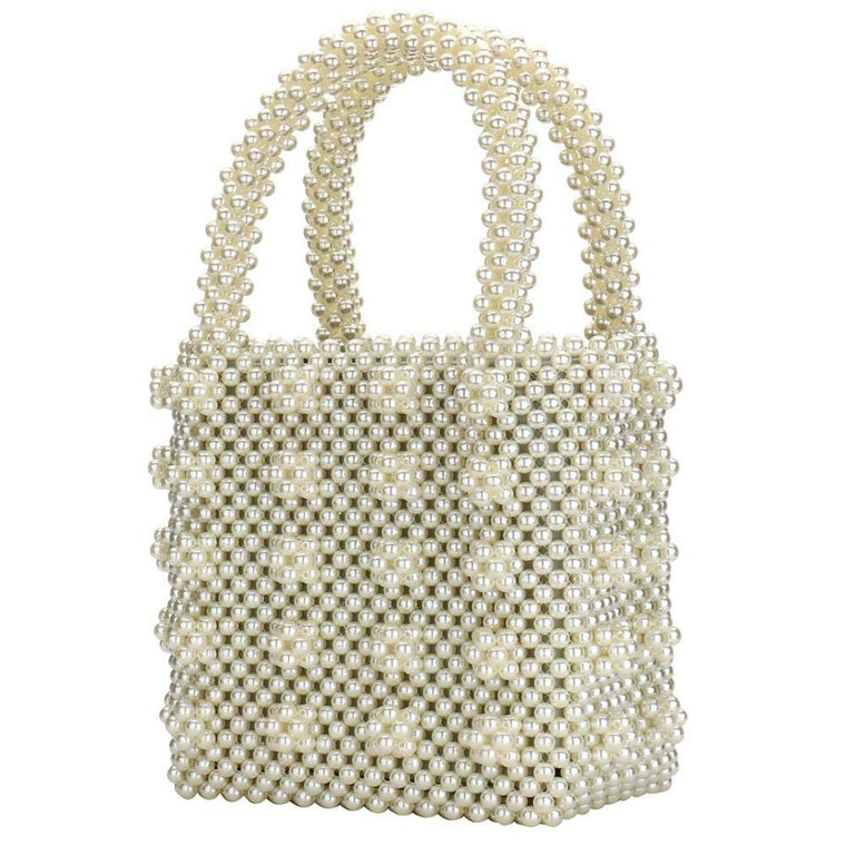 Pearl Beaded Tote Bag