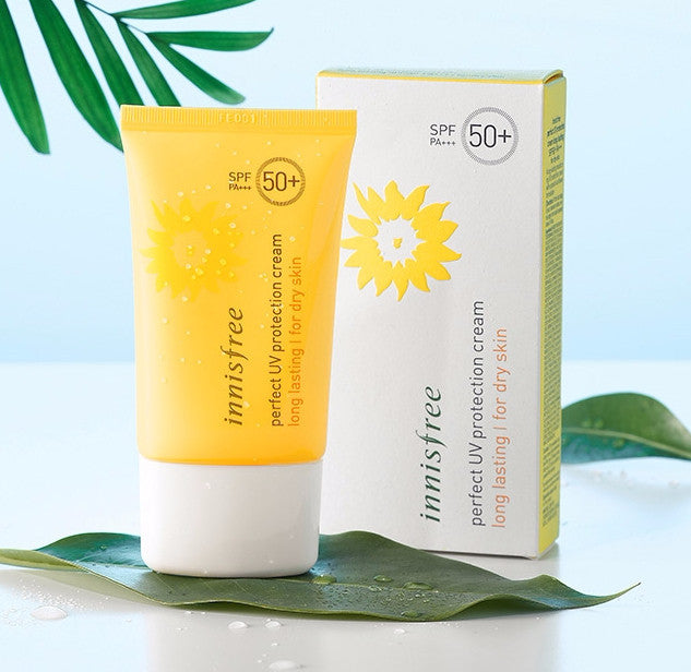 Innisfree Perfect UV Protection cream long lasting SPF50+ PA +++ for dry skin - Angie&Ash
