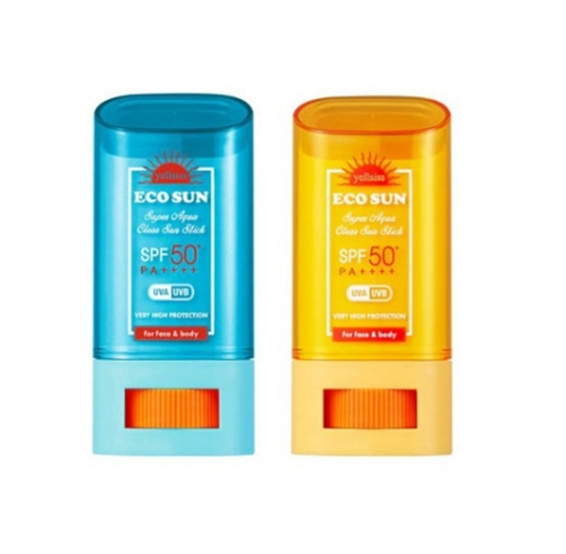 Yellsiss Eco Sun Super Aqua Clear Sunblock Stick SPF50+ / PA++++ - Angie&Ash