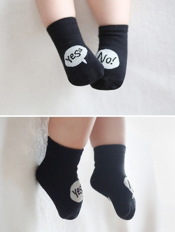 Yes! No! Cotton Socks - Angie&Ash