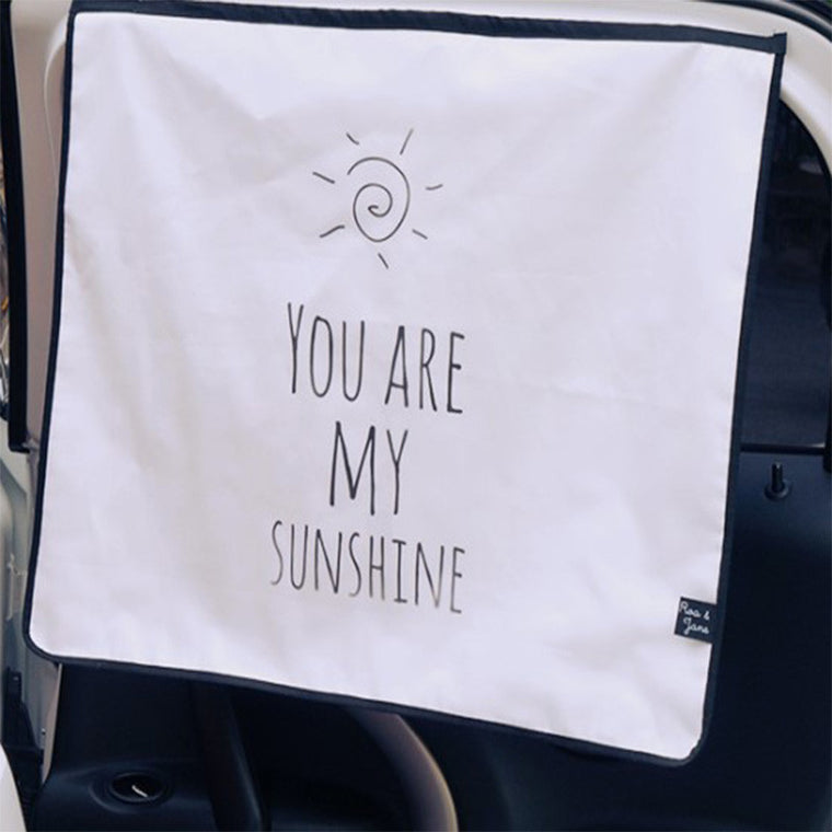 Roa&Jane UV blocking Car Sun Shade_You Are My Sunshine
