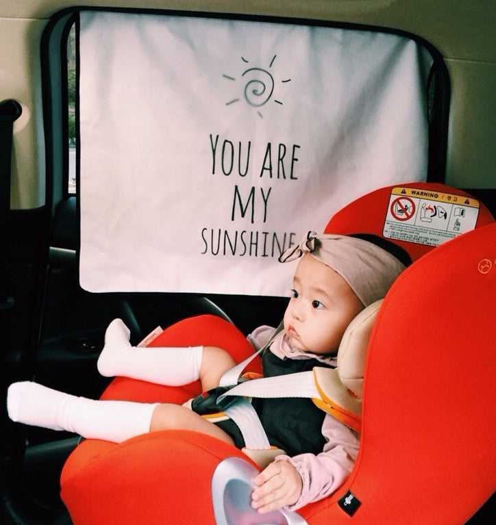 Roa&Jane UV blocking Car Sun Shade_You Are My Sunshine - Angie&Ash