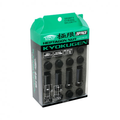 Project Kics Kyokugen Black Lug Nuts - The Lug Nut Source