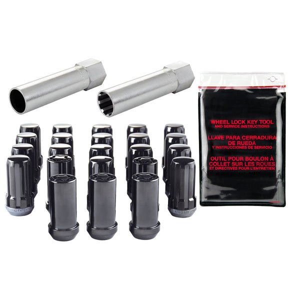 Jeep JL Spline Drive Lug Nut and Lock Set - [Whiteline] - The Lug Nut Source