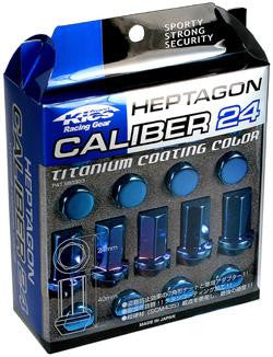 Project Kics Titanium Blue Caliber Lug Nuts - The Lug Nut Source - 1