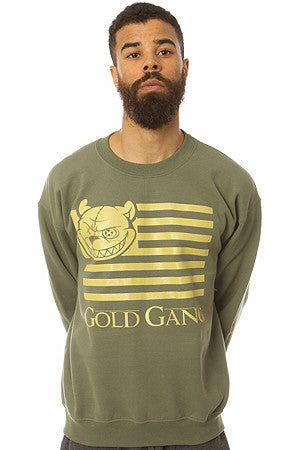 Gold gang fleece