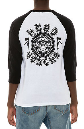 Head honcho 3/4 raglan shirt