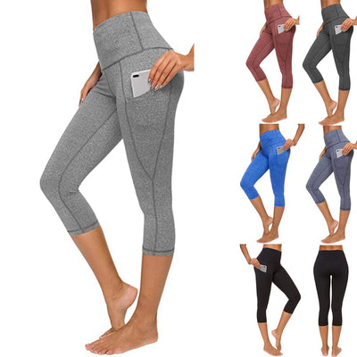 Pocket Capris Seamless Yoga Pants