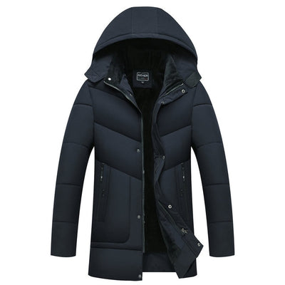 Parka Men Coats 2021 Winter Jacket Men Thicken Hooded Waterproof Outwear Warm Coat Fathers' Clothing Casual Men's Overcoat