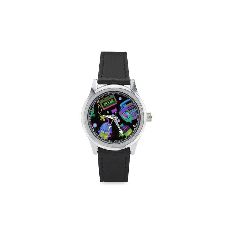 Boom! Kid's Stainless Steel & Leather Watch
