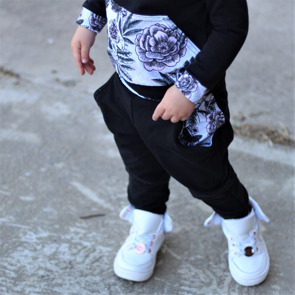Blushing Skulls French Terry Joggers