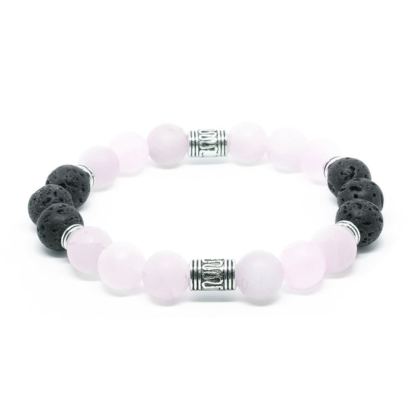 ROSE QUARTZ & LAVA STONE - Headless Nation