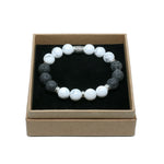HOWLITE WHITE & LAVA STONE - Headless Nation