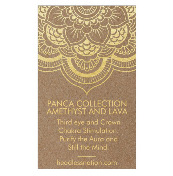 AMETHYST & LAVA STONE - Headless Nation