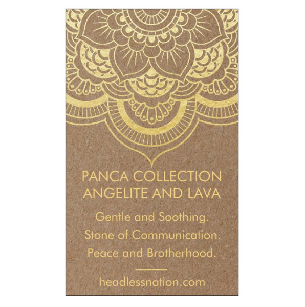 ANGELITE & LAVA STONE - Headless Nation
