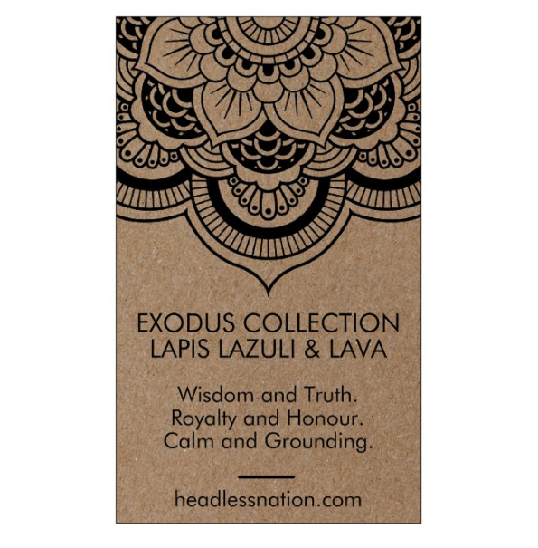 LAPIZ LAZULI & LAVA STONE - Headless Nation