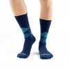 Navy-Steel Blue Argyle Basics - Talking Toes