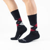 Black-Red Argyle Basics - Talking Toes