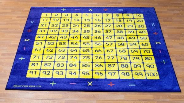 100 square counting grid carpet - Toy Giant