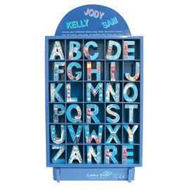 Blue wooden letters - Toy Giant