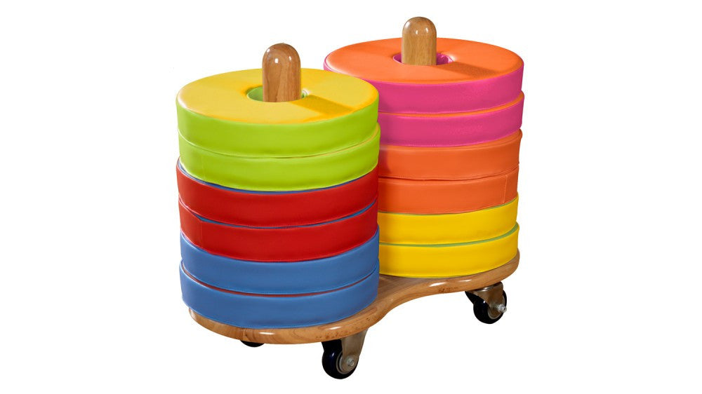 Donut Multi-Seat trolley (incl 12 coloured cushions) - Toy Giant