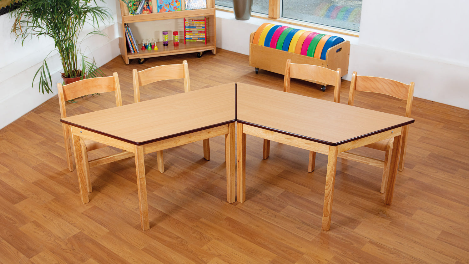 Tuf Class Trapezoidal Table Beech